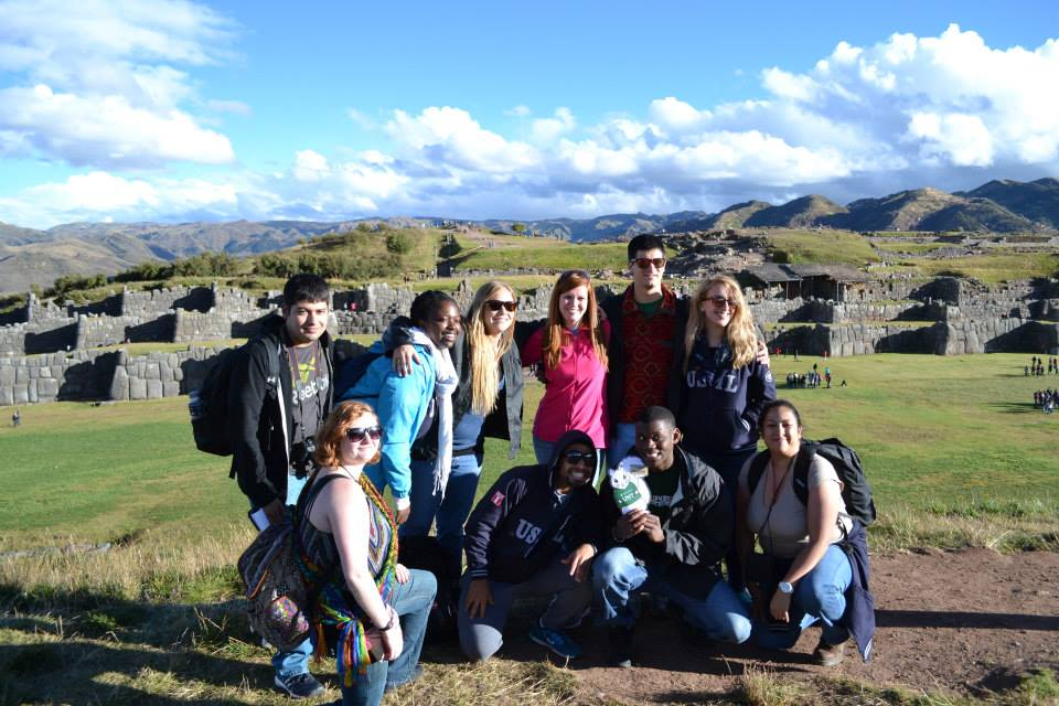 UNT Students at Macchu Picchu