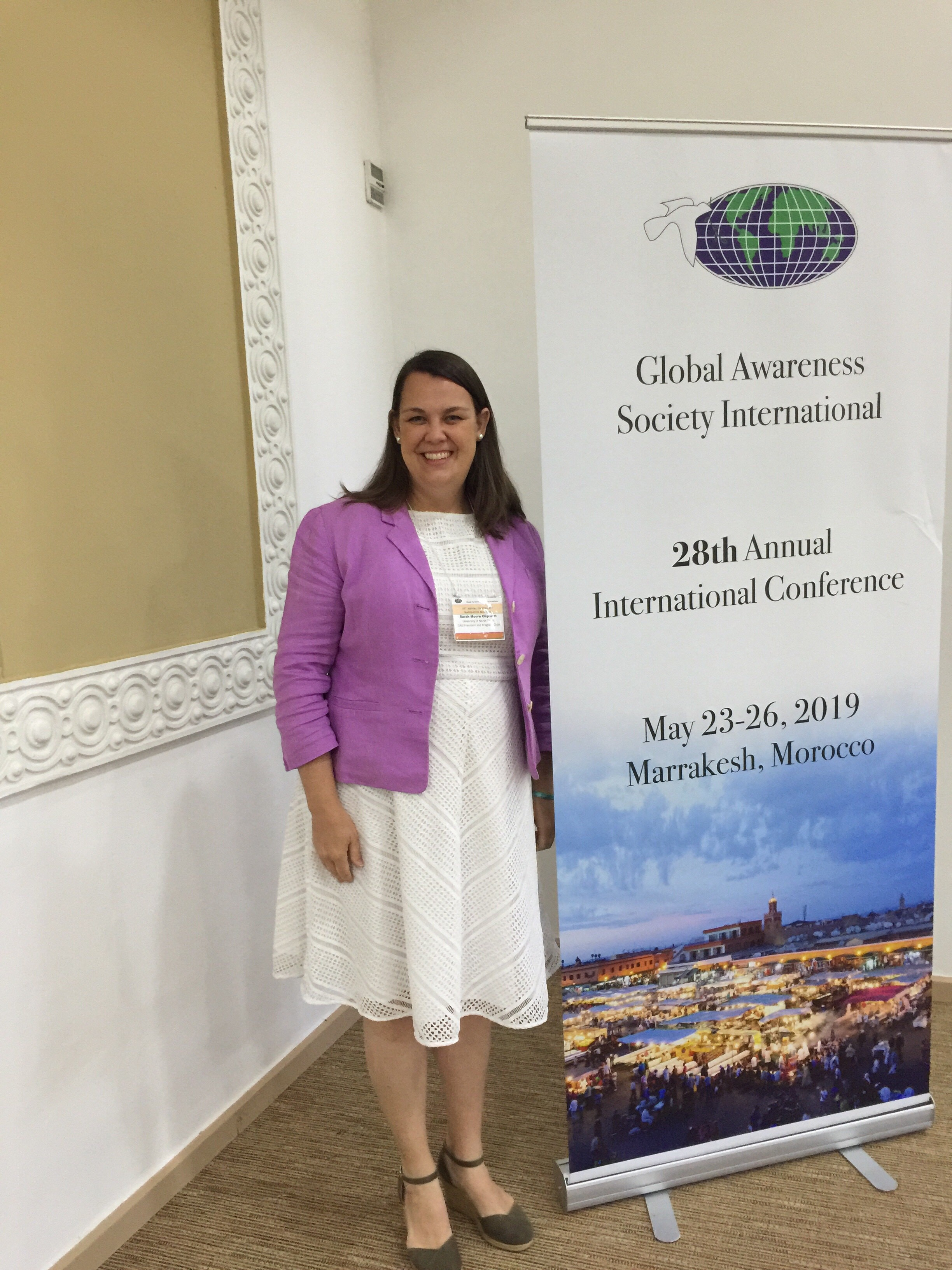 Dr. Sarah Moore Oliphant, President and Conference Chair of the Global Awareness Society International 28th Annual Conference in Marrakech, Morocco.