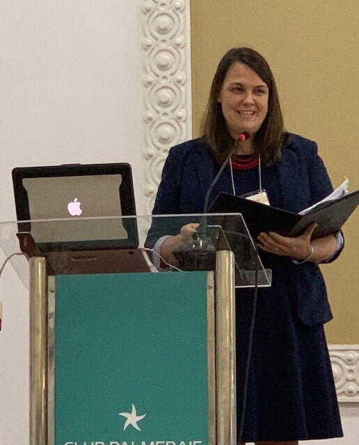 Dr. Oliphant, President of the Global Awareness Society International, welcoming conference participants to the 28th Annual conference in Marrakech, Morocco.