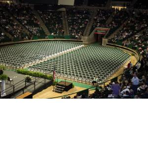 Empty Super Pit Before Graduation