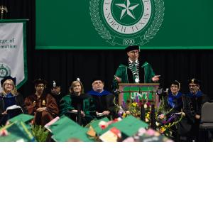 President Smatresk addresses the graduates