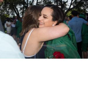 A hug for the grad
