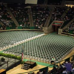 Empty Super Pit Before Graduation