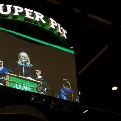 Dr. Linda Holloway on the big screen